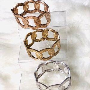 Set of 3 Textured bracelets